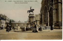 54 Meurthe Et Moselle Nancy CPA Place Saint Epvre Statue De René II Palais Du Gouvernement 1909 Animé - Nancy