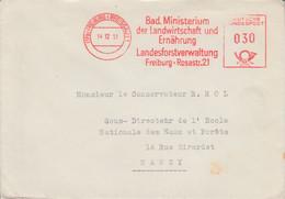 ALLEMAGNE RFA EMA DE FREIBURG 1951 - Poststempel - Freistempel