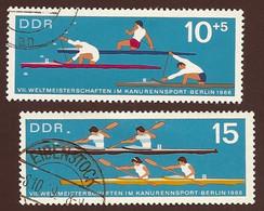 DDR, 1966, Michel-Nr. 1202-1203, Gestempelt - Used Stamps