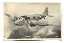 RAF Airspeed Oxford Advanced Trainer Aircraft - C1930's Real Photo Postcard - 1919-1938: Entre Guerres
