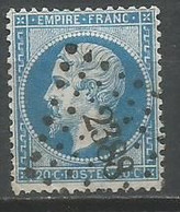 Timbre France Oblitere Napoléon 3 Empire Franc N 22 - 1862 Napoleone III