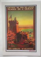 85 Les Sables D Olonne  Chemin De Fer De L Etat Repro 1914 Tour Arundel Plage - Sables D'Olonne