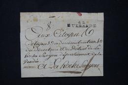 FRANCE - Marque Postale De Guerande Sur Lettre Cachetée Pour La Roche Guyon En 1793  - L 91162 - 1701-1800: Precursores XVIII