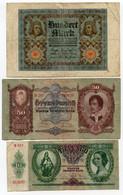 LOT De 3 Ancien Billets. Hongrie Et Allemagne. /2022 - Other