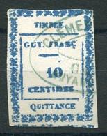 RC 19533 GUYANE FRANÇAISE TIMBRE FISCAL 10c QUITTANCE ( VOIR DESCRIPTION ) - Used Stamps