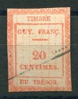 RC 19536 GUYANE FRANÇAISE TIMBRE FISCAL 20c TRESOR ( VOIR DESCRIPTION ) - Used Stamps