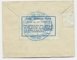 VIGNETTE JACK LONDON CLUB PARIS AU RECTO LETTRE FRANCE  COVER 1947 + BLASON CORSE 2 TEINTES POUR SUISSE - 1921-1960: Modern Period