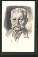 Künstler-AK Portrait Des Reichspräsidenten Paul Von Hindenburg - Historische Persönlichkeiten