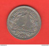 Germania 1 Marco 1935 Germany 1 Reichsmark 1935 A Terzo Reich - 1 Reichsmark