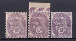 1927 - YVERT N° 233 ** MNH - 3 NUANCES ! - TYPE BLANC - COTE = 24 EUR - Neufs