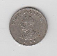 5 MAKUTA 1967 - Congo (Democratic Republic 1964-70)