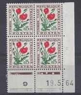 TAXE N° 97 - Bloc De 4 COIN DATE - NEUF SANS CHARNIERE - 19/5/64 - Portomarken