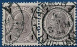 Austria 1906 1 H Pair Cancel Laibach 2102.2063 Österreich Slovenia - Used Stamps