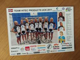Cyclisme - Carte Publicitaire HITEC  UCK : Le Groupe 2011 - Cycling