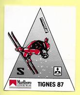 AUTOCOLLANT - STICKER - TIGNES 87 - DYNAMIC - MARLBORO LEISURE WEAR - MITSUBISHI MOTORS - SKI - FREE STYLE WORLDCUP - Stickers