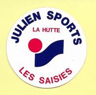 AUTOCOLLANT - STICKER - JULIEN SPORTS – LA HUTTE - LES SAISIES - HAUTE-SAVOIE - Stickers