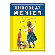 Plaque Métallique Chocolat Menier Ed Clouet - Autres