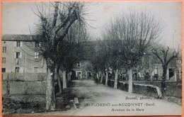 CARTE SAINT FLORENT SUR AUZONNET - 30 - AVENUE DE LA GARE -SCAN RECTO/VERSO-13 - Altri Comuni