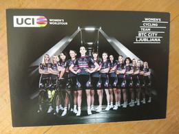 Cyclisme - Carte Publicitaire BTC CITY LJUBLJANA : Le Groupe 2016 - Cycling