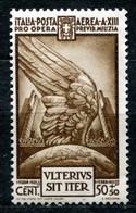 Z2516 ITALIA REGNO 1935 Pro Opera Previdenza Milizia, Posta Aerea, 50 C., MNH**, Valore Catalogo € 30, Ottime Condizioni - Mint/hinged