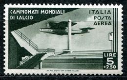 Z2520 ITALIA REGNO 1934 Mondiali Di Calcio, Posta Aerea, 5 L., Sassone A71, MH*, Valore Catalogo € 64, Ottime Condizioni - Mint/hinged