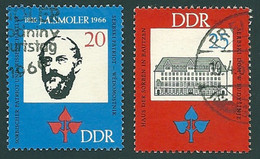 DDR, 1966, Michel-Nr. 1165-1166, Gestempelt - Used Stamps