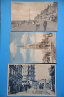 Blankenberghe: Lot De 3 Cartes De Blankenberghe, Rue De L'ouest, Digue, La Nouvelle église - Blankenberge
