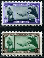 Z2523 ITALIA COLONIE EMISSIONI GENERALI 1932 Cinquantenario Garibaldino, Aeroespressi, Serie Completa, Sassone A6-A7, MN - Emisiones Generales