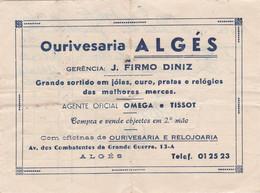 PORTUGAL - COMMERCIAL DOCUMENT - OURIVESARIA ALGÉS - Portugal
