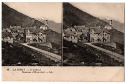CPA Stereo Suisse - 18. Saint-Gothard. Panorama D'Hospenthal - LL - VS Valais