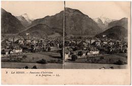CPA Stereo Suisse - 8. Panorama D'Interlaken Et La Jungfrau - LL - BE Berne