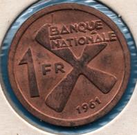 KATANGA 1 FRANC 1961 KM# 1 Régime De Bananes - Congo (Republic 1960)