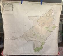Plan 95x90cm Commune De Vivy Bouillon Par Géomètre Arpenteur 1805 Justant Baillamont Mogimont Rochehaut Carlsbourg - Cartes Topographiques