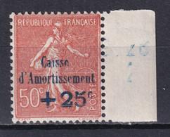 1928 - YVERT N° 250 ** MNH !  - COTE = 75 EUR. - SEMEUSE CAISSE AMORTISSEMENT - Sinking Fund