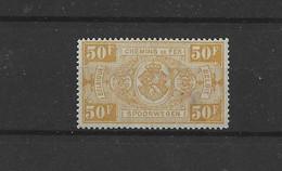 Timbres CHEMIN DE FER  TR 166XX  LIRE  JAUNI ET PETIT PLI - 1923-1941