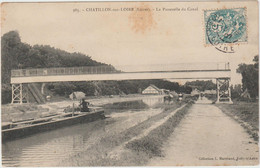Châtillon Sur Loire  (45 - Loiret) La Passerelle Du Canal - Péniches - Chatillon Sur Loire