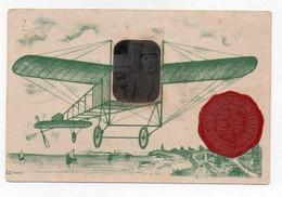Carte Postale - Vignette Sceau Rouge Sur Gris - Grand Meeting D'aviation Reims Juillet 1910 - Reuniones