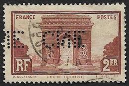 Perforé CNE  - YT  258 - Arc De Triomphe - Perfins