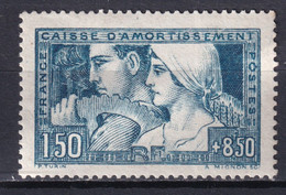 1928 - YVERT N° 252b (ETAT III) * MLH - COTE = 180 EUR. - CAISSE AMORTISSEMENT - Sinking Fund