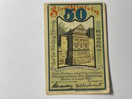 Allemagne Notgeld Rinteln 50 Pfennig - Collezioni