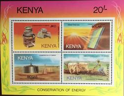 Kenya 1985 Energy Conservation Animals Minisheet MNH - Kenya (1963-...)