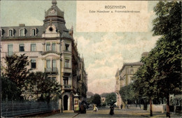CPA Rosenheim Im Alpenvorland Oberbayern, Ecker Münchner Und Promenadenstraße - Autres