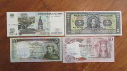 LOT De 4 Anciens Billets. Russie. Portugal. Equateur. /2036 - Other