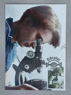 GIBRALTAR (2020). Carte Maximum Card - Birth Anniversaires Rosalind Elsie Franklin, Microscope, Biology, Laboratory, - Gibraltar