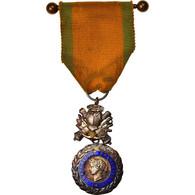 France, Troisième République, Valeur Et Discipline, Médaille, 1870, Très Bon - Altri