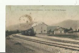 Caudies        La Gare Le Train De Perpignan - Andere Gemeenten
