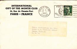 France YT 884a LSC  Paris 14/11/52 Pour Tampa USA - Curiosities: 1950-59 Covers & Documents
