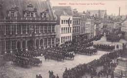 TOURNAI / REVUE DES TROUPES SUR LA GRAND PLACE  1908 - Tournai