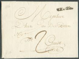 Superbe Lettre Avec Contenu De BRUGES Le 28 Janvier 1782 Vers Gand; Port '2'TB - 17426 - 1714-1794 (Oesterreichische Niederlande)
