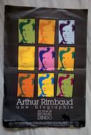 Aff Ciné Orig ARTHUR RIMBAUD: UNE BIOGRAPHIE 40X60 Illustration Philippe Documentaire - Affiches & Posters